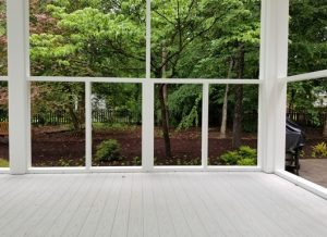 new screen porch decking