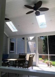 new screen porch skylights